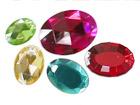 Oval Acrylic Diamond With 2 Holes