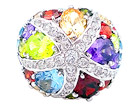 Multi-Color CZ Ring
