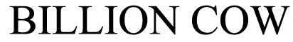 Billion Cow Group Co., Ltd.