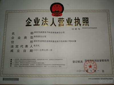 trading certificate