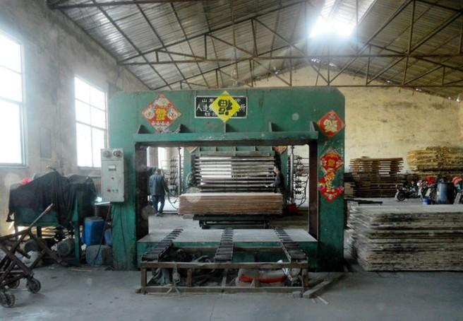 Hot pressing machine
