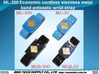 Ml-300 de economische Draadloze Roestvrije Riem van de Pols van de Band van het Metaal Antistatische