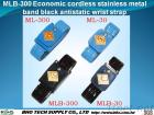 Mlb-300 de economische Draadloze Roestvrije Riem van de Pols van de Band van het Metaal Zwarte Antistatische