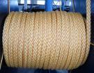 カラットのマキシの係留ロープの混合されたロープ