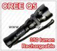 Super bright CREE Q5 LED flashlight