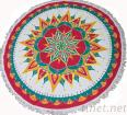 Hot Sales Cheap Reactive Printed Velour/Terry Round Towel