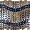Marble Mosaic Mix Glass and Stainless Steel