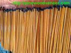 Manija de madera de la escoba con la cubierta de PVC