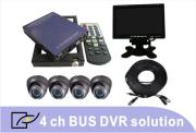 4 Channel School Bus DVR System Solution