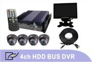 4 Channel Shockproof HDD Bus DVR Solution