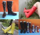 Ladies Wellington Rubber Rain Boots