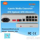 8 Ports Media Converter