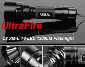 UltaFire C8 CREE XML-T6 5-Mode 800LM White LED Flashlight