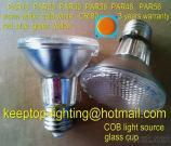 TopGrade Glass Cup COB LED PAR Light PAR30/PAR38 LED Bulb E40 E27