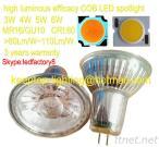 Warm White/Cold White Glass Cup COB LED Spotlight 3W 4W 5W 6W