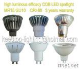 MR16 GU10 Ceramic/Aluminium Die Casting 3W 4W 5W 6W COB LED Spotlight CRI80