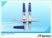 Cassette rapide en plastique d'essai de HCG de grossesse en une étape d'urine