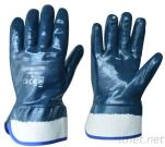 Nitrile dipped jersey liner gloves for heavy duty chemical industry