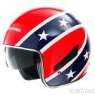 C139 Star Flag Pink Glass Steel Motorcycle Helmet
