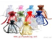 De kleurrijke Duidelijke Zak van de Gift van de Bevordering Organza voor de Gift en de Decoratie van het Huwelijk