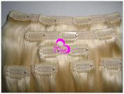 100% Remy Human Hair Extension--Clip Hair In Blonde Color
