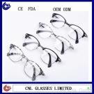 Fashion Plastic Reading Glasses Unisex Stock Eyeglass Optical Frames