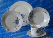 White Porcelain 30 Pieces Dinnerware