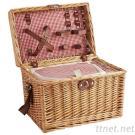 De opvouwbare Bruine Mand van de Picknick van de Wilg