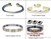 A Copper Magnetic Bracelet With A Triple Twist Design.