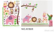 OEM removeble Kids cartoon wall decals wall art stickers