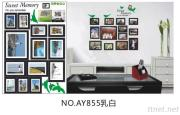 OEM Removeble Photo Frame Wall Decals Wall Art Stickers