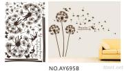 OEM Removeble Flowers Wall Decals Sofa Wall Art Stickers