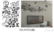 OEM Removeble Flowers Wall Decals Bedroom Wall Art Stickers