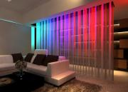 Motorized Decortaive Curtains With LED