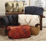 custom cotton canvas travel Duffle weekender bag