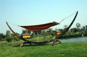 Wicker-Rattan Steel Hammock Stand