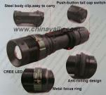 CREE Q3 Zoom rechargeable flashlight