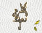 BrassHummingbirdWallHanger