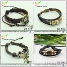 Alloy Cross Braclelet, Fashion Leather Bracelet