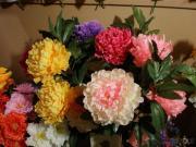 Centro de flores artificial