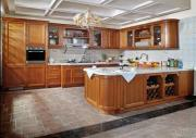Cherry Solid Wood Kitchen Cabinet