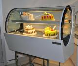 European style curved bakery showcase