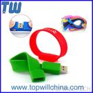 Silicone Wristband Bracelet USB Pen Drives Thumbdrive With Logo Printing for Kids