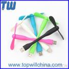 USB Gadgets Silicone Flexible USB Fan Safe Fans Low Noise Low Power Strong Soft Wind