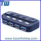 4 Ports USB 3.0 Hub Usb Hubs Ultra Speed High Quality with Power Switch