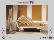 Hand Carved Home Furnitures - Solid Wood Leaf Gilding Chaise Lounge