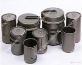 Titanium Pot, Titanium Spork,Titanium Bowl, Titanium Pan