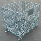 Foldable Steel Metal Wire Mesh Pallet Cage