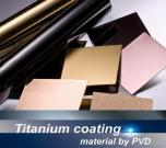 Stainless Steel, Titanium Coating Material By PVD
