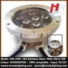 LED Underwater Light LED Pool Light LED Fountain Light 9W Or 12W Own Mould Casting Stainless Steel Housing